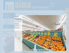 aima – Virtueller Rundgang durch zwei Supermärkte